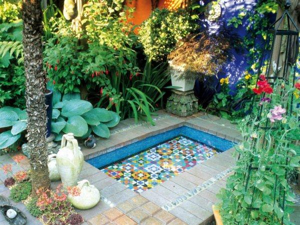 modèle décoration petit jardin maison