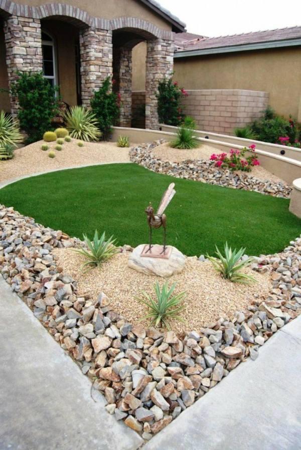 photo décoration petit jardin maison