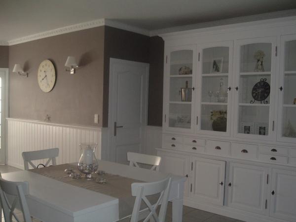 Décoration salle a manger couleur taupe