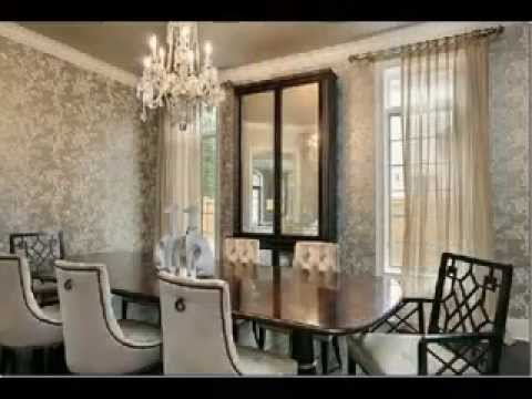 aménagement décoration salle a manger tapisserie