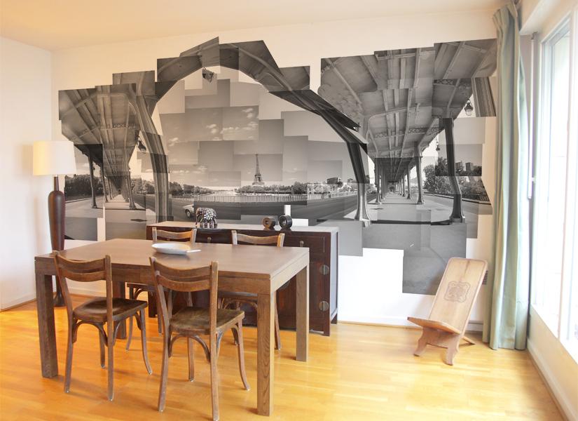 idée décoration salle a manger tapisserie