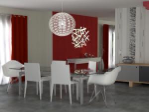 exemple décoration salle a manger tapisserie