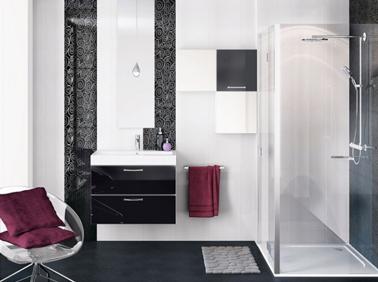 décoration salle de bain noir