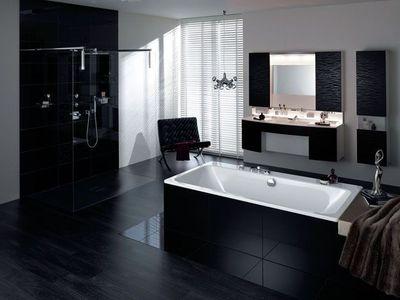aménagement décoration salle de bain noir