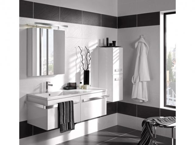 idée décoration salle de bain noir