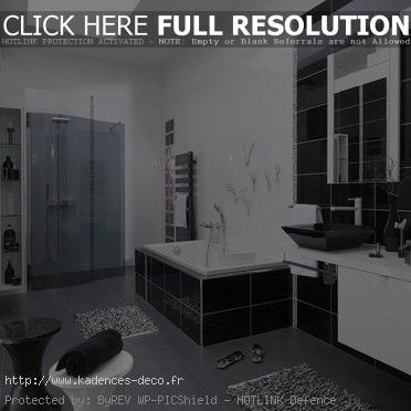 univers décoration salle de bain noir