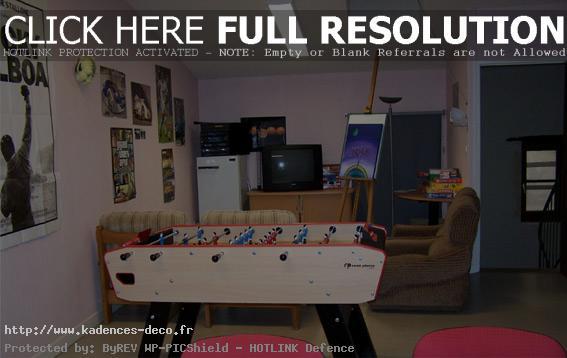 Décoration salle de jeux adolescent