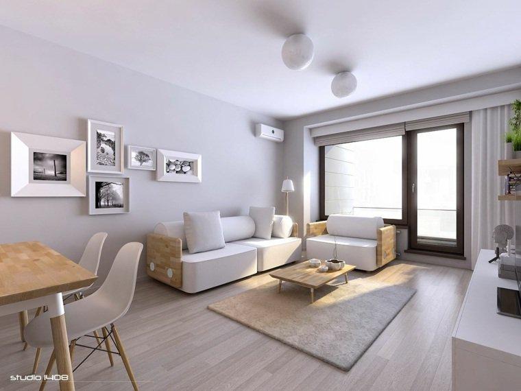décoration salon gris et bois
