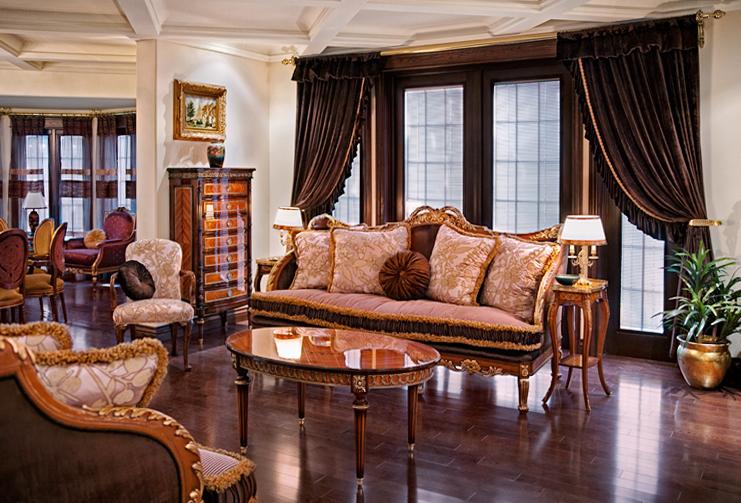 modèle décoration salon italien