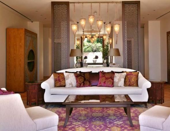 photo décoration salon italien