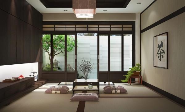 Décoration salon japonais