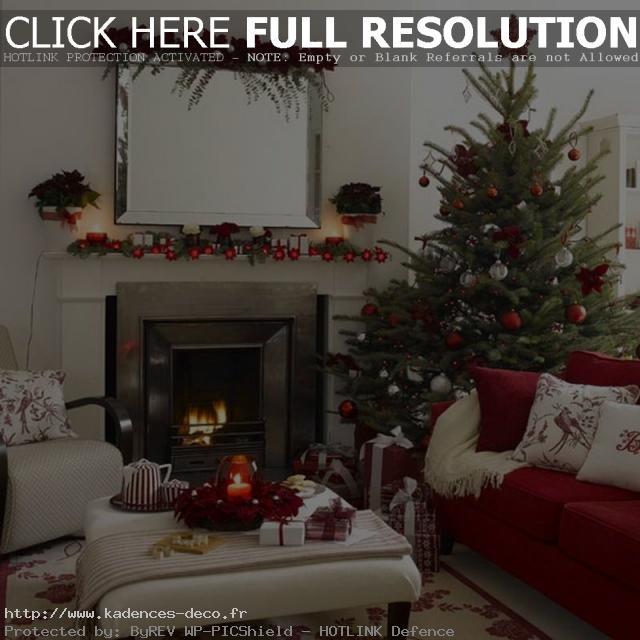 modèle décoration salon noel