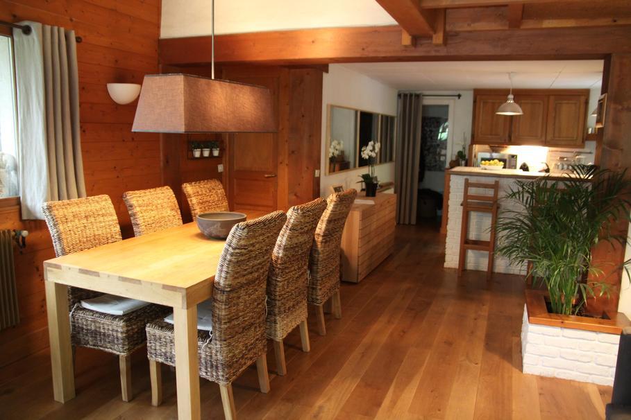 aménagement décoration salon parquet bois