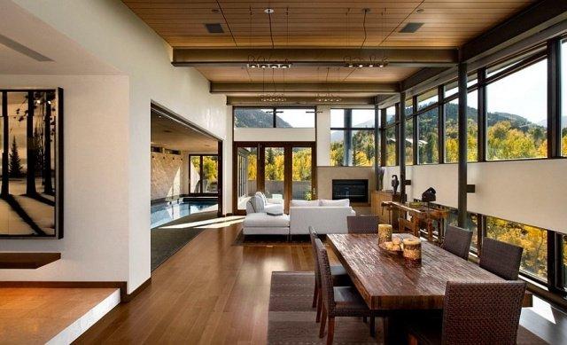 idée décoration salon parquet bois