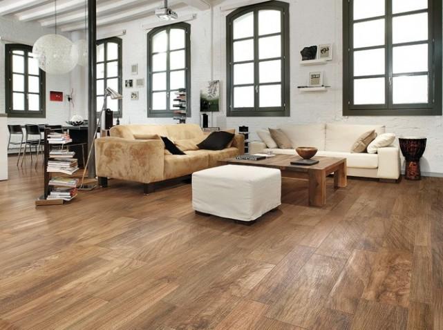agencement décoration salon parquet bois