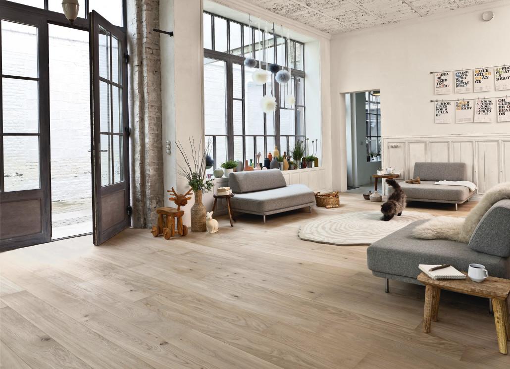 modèle décoration salon parquet bois