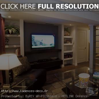 décoration salon sous sol