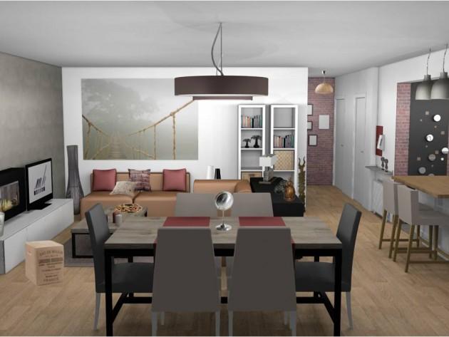agencement décoration sejour salon contemporain