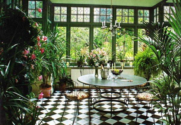 exemple décoration style jardin d'hiver