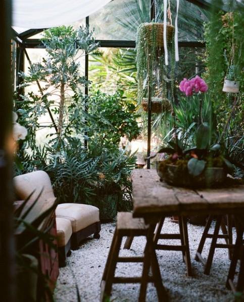 modèle décoration style jardin d'hiver