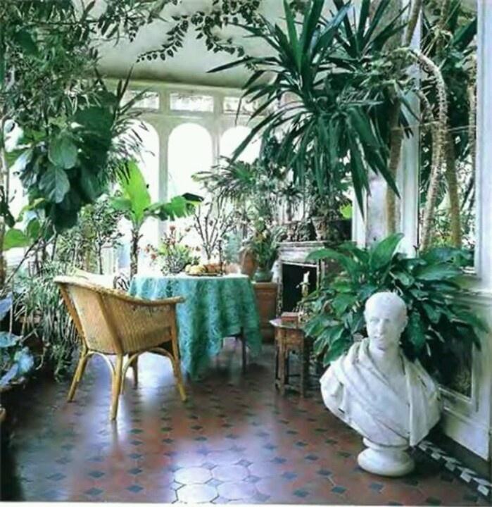 organisation décoration style jardin d'hiver
