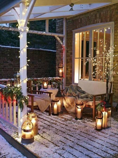 décoration terrasse en hiver