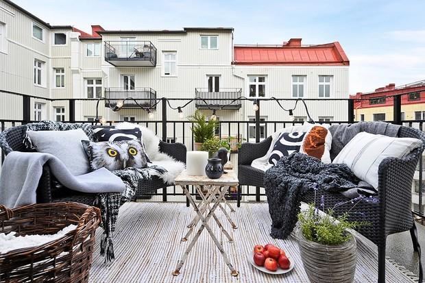 univers décoration terrasse en hiver