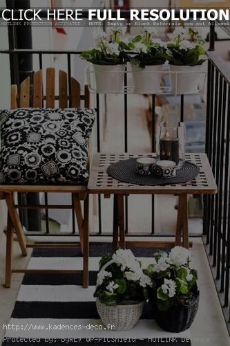 modèle décoration terrasse en hiver