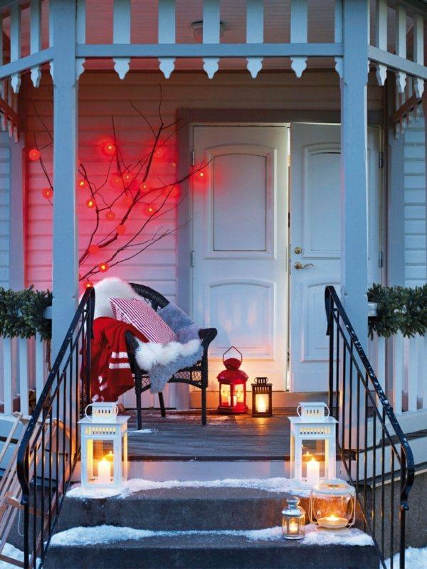 photo décoration terrasse en hiver